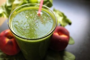 Spirulina recept på en smoothie